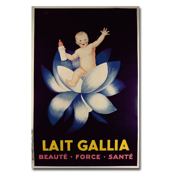 'Lait Gallia 1931' Canvas Art