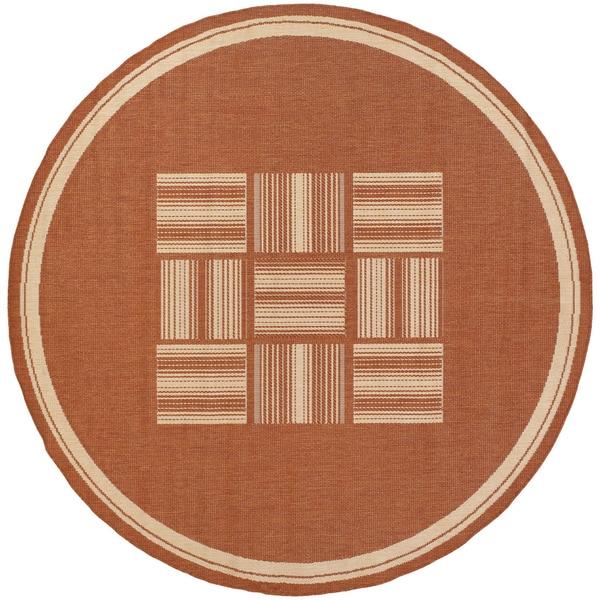Recife Bistro Terracotta/ Natural Rug (8'6 Round)