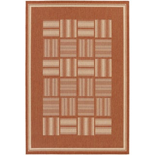 Recife Bistro Terracotta/ Natural Rug (3'9 x 5'5)
