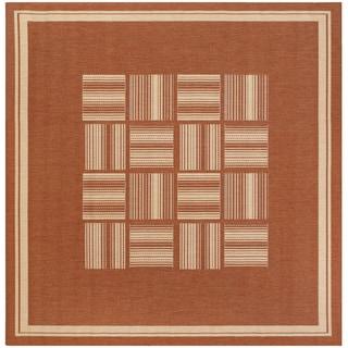 Recife Bistro Terracotta/ Natural Rug (8'6 x 8'6)
