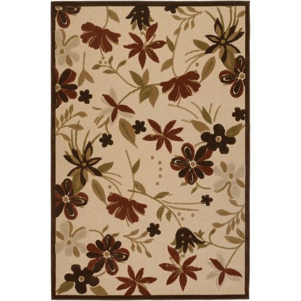 Urbane Botanical Garden Sand/ Terracotta Rug (8'7 x 13) - 8'7 x 13' 10639571