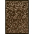 Urbane Captivity Tan/ Brown Rug (3'8 x 5'5)