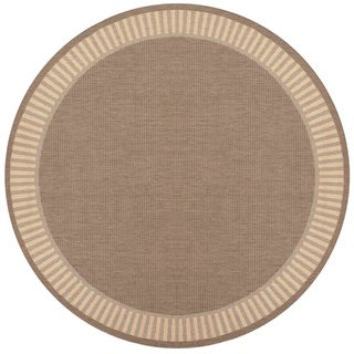 Recife Wicker Stitch Cocoa/ Natural Rug (7'6 Round)