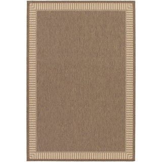 Recife Wicker Stitch Cocoa/ Natural Rug (7'6 x 10'9)
