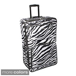 Rockland 24-inch Zebra Expandable Rolling Upright Luggage