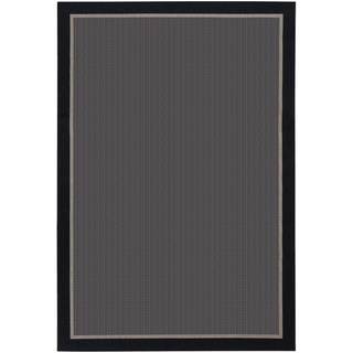 Tides Freeport Black and Grey Rug (5'3 x 7'6)