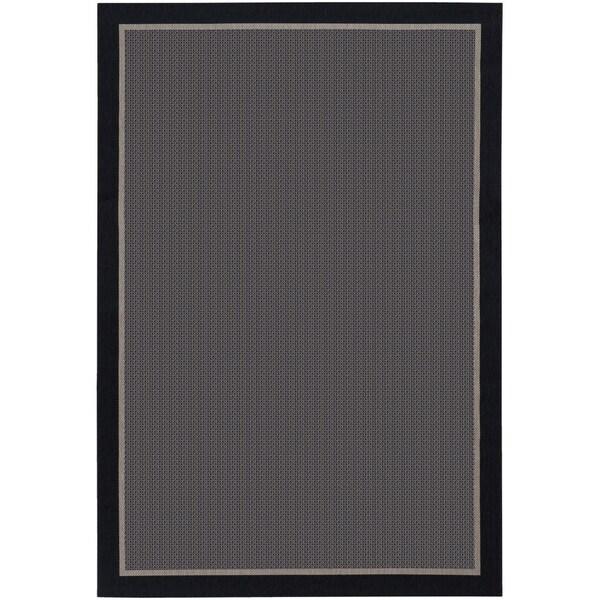 Tides Freeport Black and Grey Rug (5'3 x 7'6)