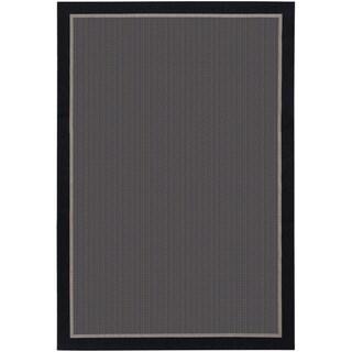 Tides Freeport/ Black Taupe Rug (7'10 x 10'10)