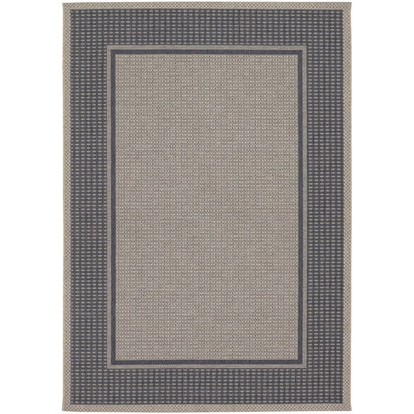 Tides Astoria Charcoal and Grey Rug (6'7 x 9'6)
