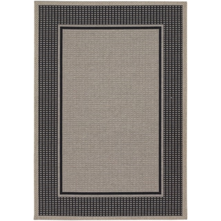 Tides Astoria Black and Grey Rug (5'3 x 7'6)