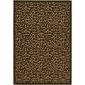 Urbane Captivity Tan/ Brown Rug (5'2 x 7'6)