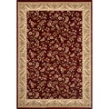 Woven Wilton Red Floral Rug