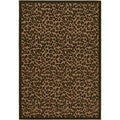 Courtisan Urbane 'Captivity' Tan/ Brown Rug (6'3 x 9'2)