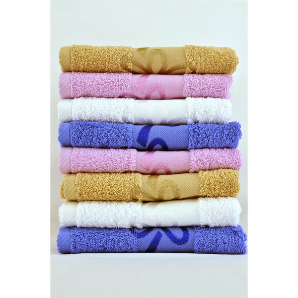 Dante Jacquard Assorted Colors 8-piece Guest Towel Set