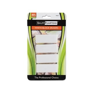 Baum Gartens White Block Erasers (Pack of 4)