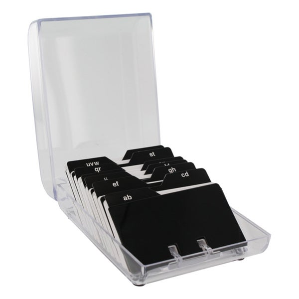 Eldon Clear Plastic Covered 200-card File