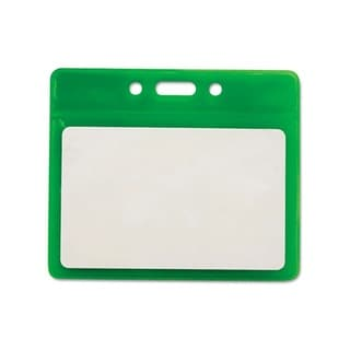 Reflective Green 3.5-inch x 2.5-inch Badge Holders (Pack of 25)