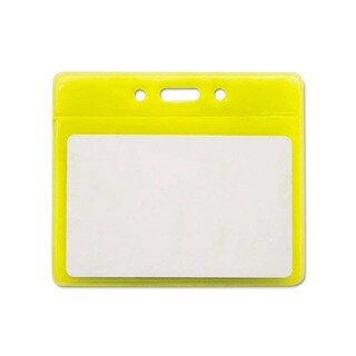 Reflective Yellow 3.5-inch x 2.5-inch Badge Holders (Pack of 25)