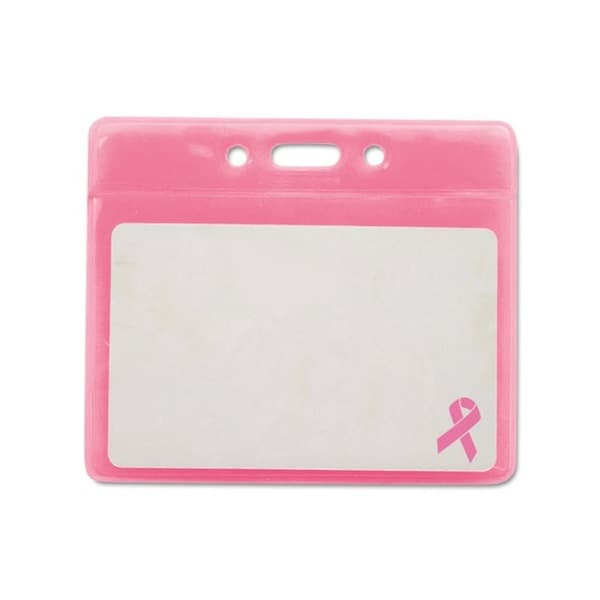 Breast Cancer Awareness Pink Badge Holder (Pack of 25)
