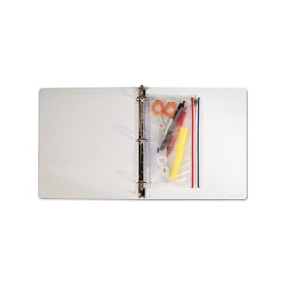 Zip-All Ring Binder Clear Pocket (6 x 9.5 inches)
