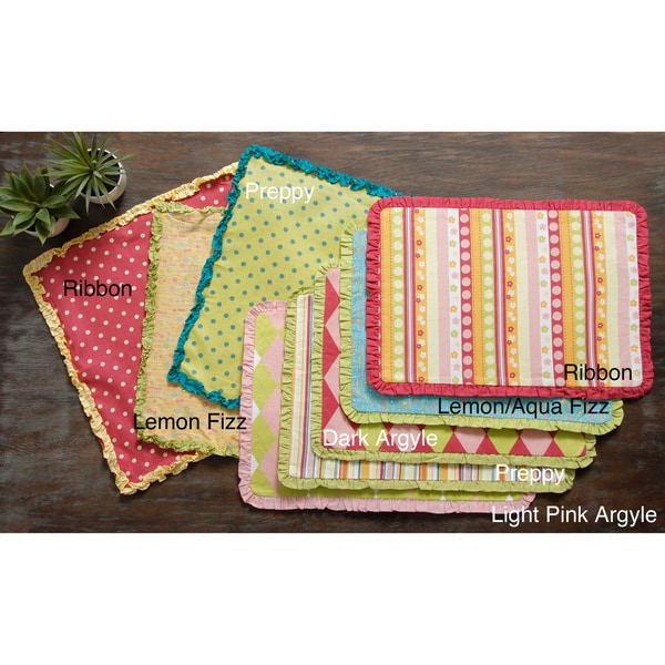 Preppy Placemat Set or Napkin Set (Set of 6)