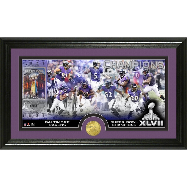Highland Mint Baltimore Ravens Super Bowl XLVII Champions Photo Coin Mint 10639879