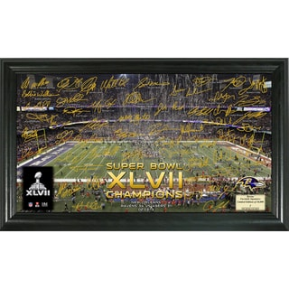 Baltimore Ravens Super Bowl XLVII Champions Signature Gridiron Photo