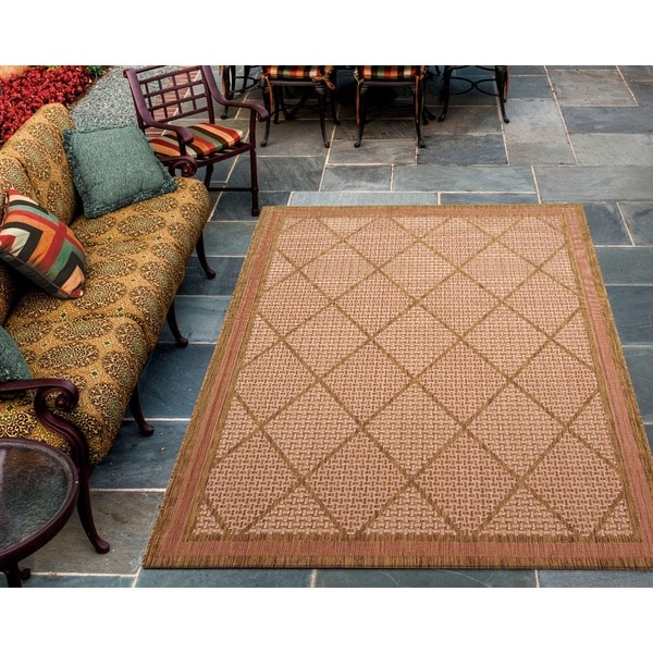 Eclipse Diamond Terracotta Rug (7'10 x 10')