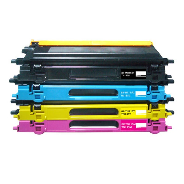 Brother Compatible TN115 BCYM Toner Cartridges (Pack of 4)