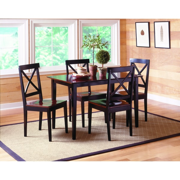 Jaguar 5-piece Black/ Merlot Dinette