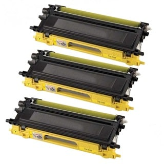 Brother Compatible TN210 High Yield Yellow Toner Cartridges (Pack of 3)