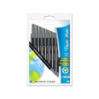 Paper Mate Write Bros Black Recycled Ballpoint Pens (Pack of 10)