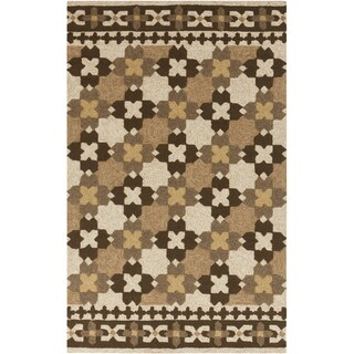 Hand-hooked Moroccan Parsnip Indoor/Outdoor Rug (8' x 10'6)