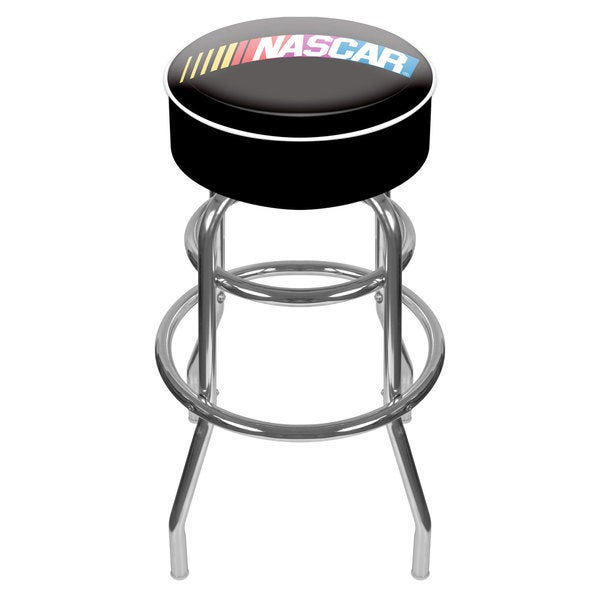 Trademark NASCAR Logo Padded Swivel Bar Stool
