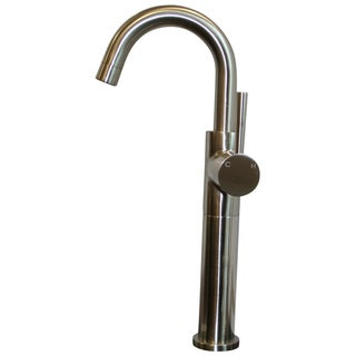 Ideal Brushed Nickel Single Lever Bathroom Vessel Filler Faucet