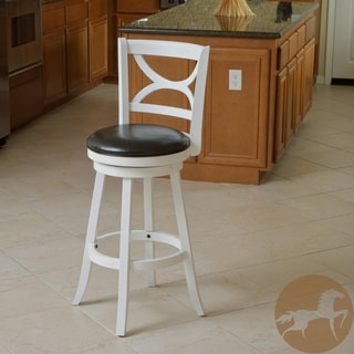 Eclipse White and Black Swivel Barstool
