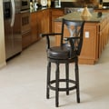 Christopher Knight Home &#39;Eclipse&#39; Espresso Armed Swivel Barstool