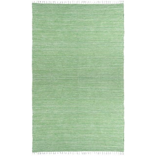Green Reversible Chenille Flat Weave Rug (8' x 10')
