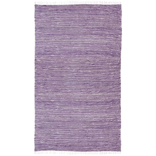 Purple Reversible Chenille Flat Weave Rug (5' x 8')