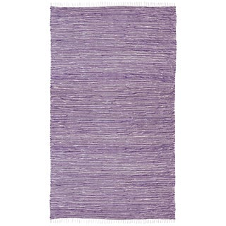 Purple Reversible Chenille Flat Weave Rug (4' x 6')