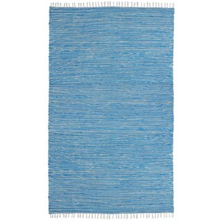 Aqua Reversible Chenille Flat Weave Rug (4' x 6')