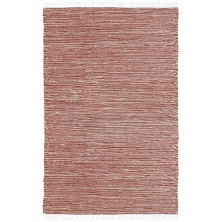 Copper Reversible Chenille Flat Weave Rug (4' x 6')