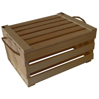 Large Covered Wooden Crate