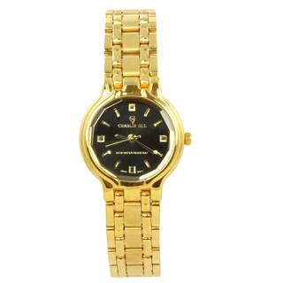 Charlie Jill 'Miss Royal' Women's Goldtone Steel Watch