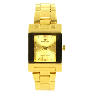 Fortuner Women's Goldtone Stainless Steel Rhinestone Accent Watch