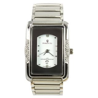 Charlie Jill Men's 'Imperial' White Dial Stainless Steel Watch