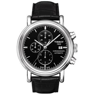 Tissot Men's 'Carson' Black Automatic Chronograph Classic Watch