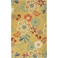 Hand-hooked Summer Daisies Yellow Indoor/Outdoor Floral Rug (3'3 x 5'3)