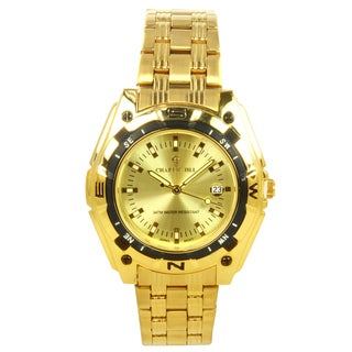 Charlie Jill Men's Goldtone Stainless Steel Watch