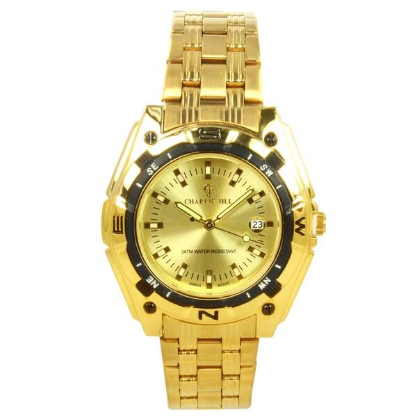 Charlie Jill Men's Goldtone Stainless Steel Watch